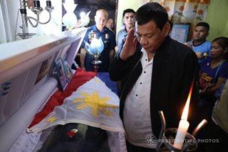 Order of Lapu-Lapu Kalasag medal to fallen cop