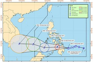 'Vinta' threatens Caraga, several areas under signal no.2