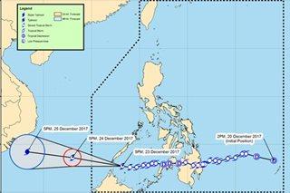 'Vinta' strengthens, barrels towards southern Palawan