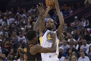 NBA: Durant, Thompson lead Warriors over Cavaliers