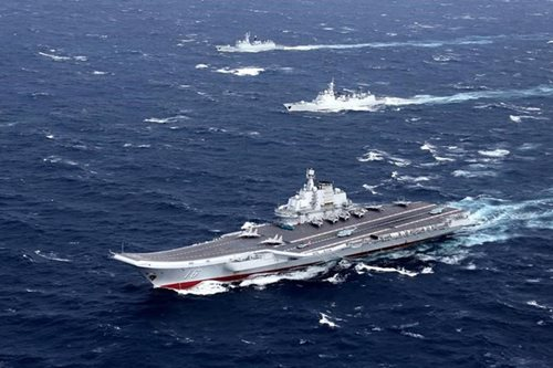 China sends carrier through Taiwan Strait after Xi warning -report