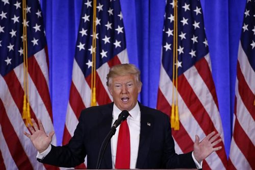 Trump says Brexit to be 'a great thing', wants very substantial cut in nuclear weapons