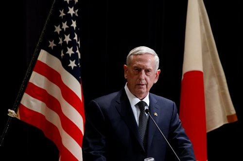 China upset at US defense chief's remarks on S.China Sea