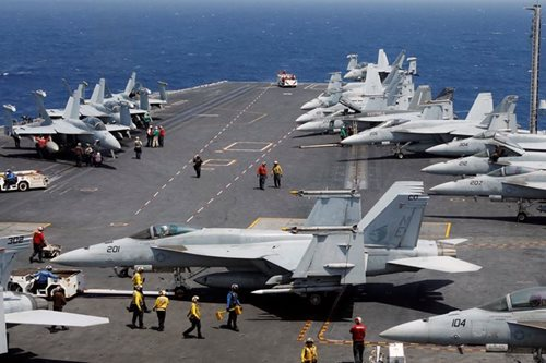 US carrier puts on show of 'commitment,' not power, in South China Sea