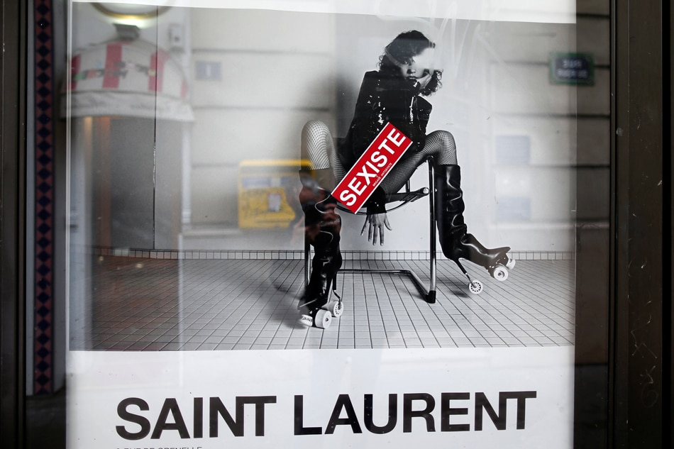 47a8d5c5080bf Saint Laurent told to modify ad campaign after uproar in France   ABS-CBN  News