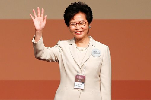 China's favorite Lam wins HK leadership, vows to heal rifts