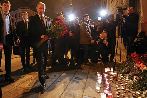 Trump offers condolences to Putin after St. Petersburg blast