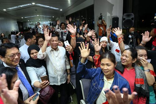 Duterte says to form department for OFWs by December