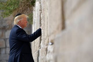 Trump becomes first sitting US president to visit Western Wall