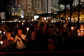 Thousands gather at Hong Kong Tiananmen vigil