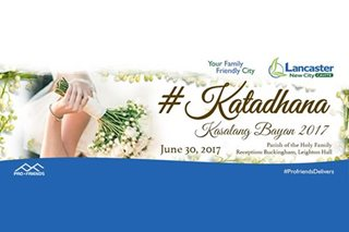 #KATADHANA: Lancaster New City hosts Kasalang Bayan