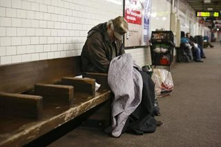 New York street homeless population up nearly 40%