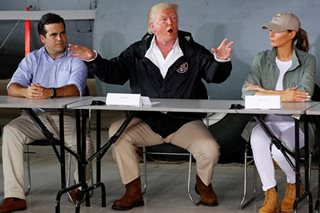 Trump in Puerto Rico to champion storm response