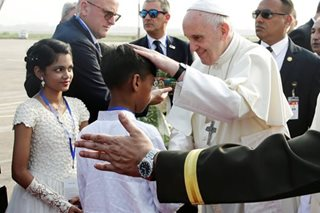 Pope lands in Bangladesh after contentious Myanmar visit