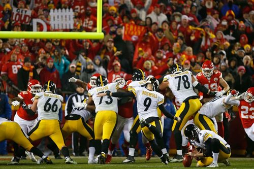 Boswell boots Steelers past Chiefs, into AFC title game