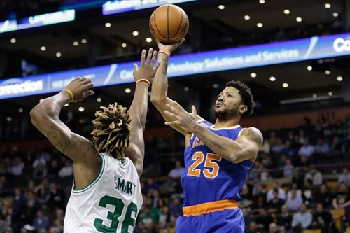 Rose fuels slumping Knicks to win over Celtics