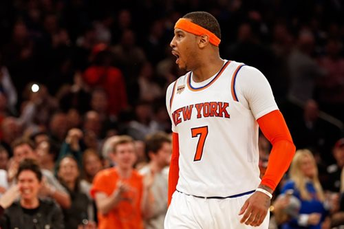 Carmelo replaces injured Love in All-Star Game