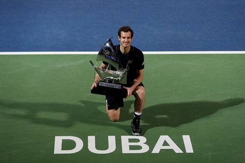 Murray wins first title of year in Dubai