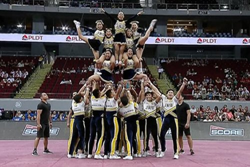 WATCH: JRU Pep Squad keeps routine safe and simple