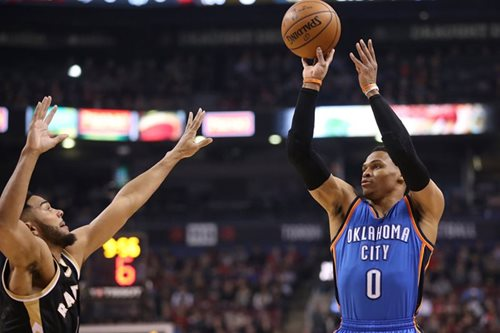 NBA: Countdown to triple-double record continues as Thunder prevail