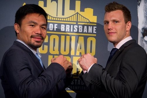 Pacquiao promotes fight against Horn