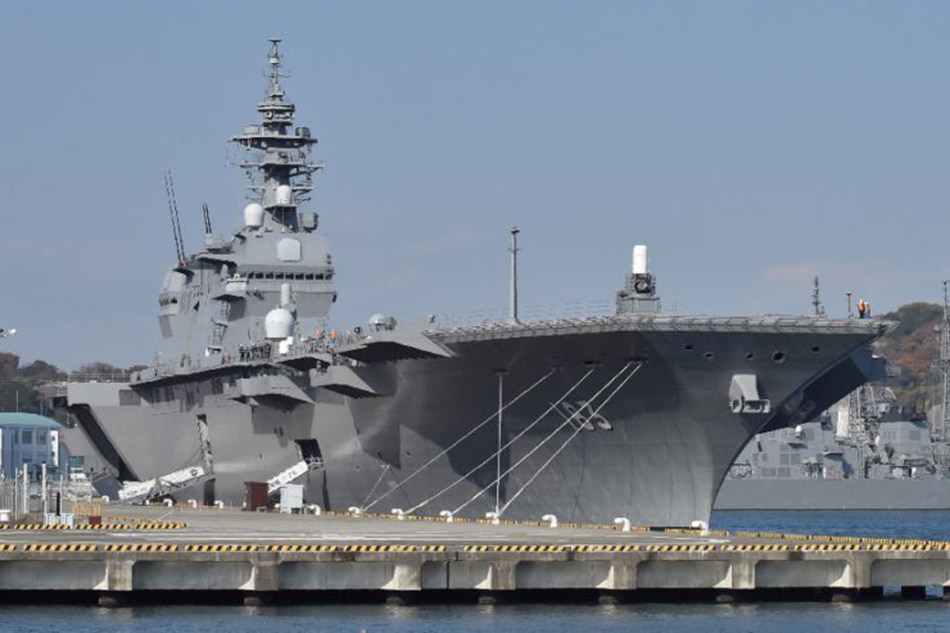 Japan sends largest warship to escort U.S.  supply vessel near North Korea
