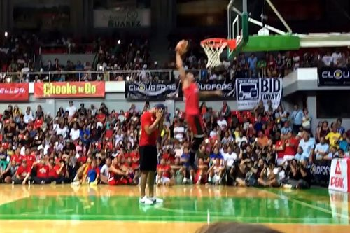WATCH: Jamito's fake jump-over-a-guy dunk gets noticed by NBA show