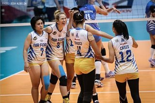 PVL: Air Force upsets Pocari Sweat in 5 sets