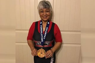 75-year-old Pinoy lola sets powerlifting record