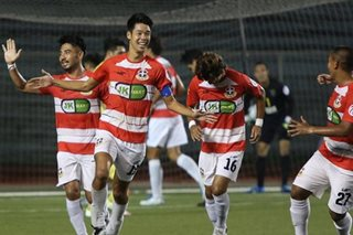 Marikina stuns Global Cebu to top PFL table
