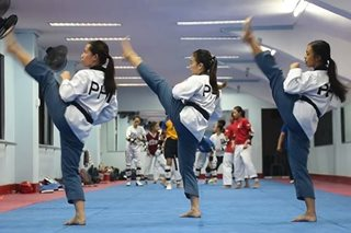 WATCH: SEA Games-bound PH women's taekwondo team performs routine