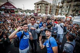 More than 2,000 Pinoys cheer on Gilas Pilipinas in Lebanon