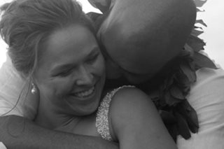 LOOK: Rousey ties the knot with fellow MMA fighter