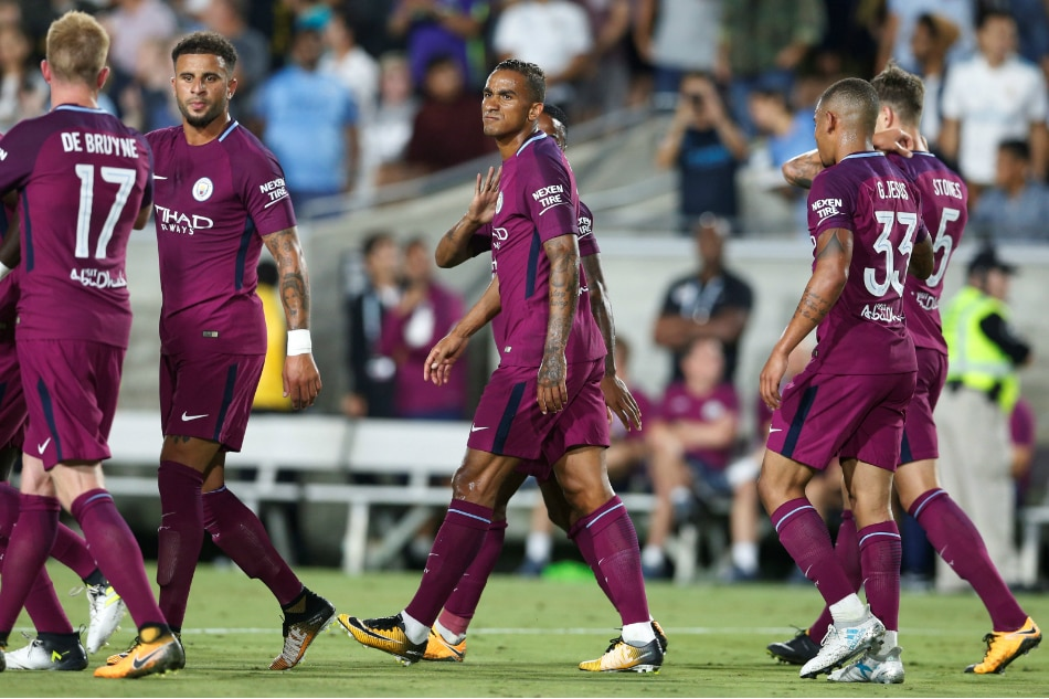 Aguero on target as Man City down promoted Brighton