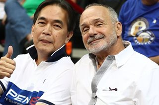 LOOK: PBA legend Francis Arnaiz watches Ateneo-La Salle