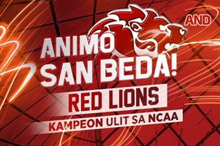 Animo San Beda! Red Lions, kampeon ulit sa NCAA