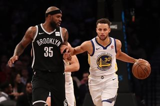 NBA: Curry scores 39 to power Durant-less Warriors over Nets