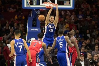 Simmons, Sixers thwart Wizards rally