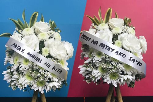'Patay na patay ako sa'yo': See funeral-inspired flowers for Valentine's Day