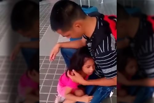 VIRAL: Crying 5-year old begs OFW dad to stay