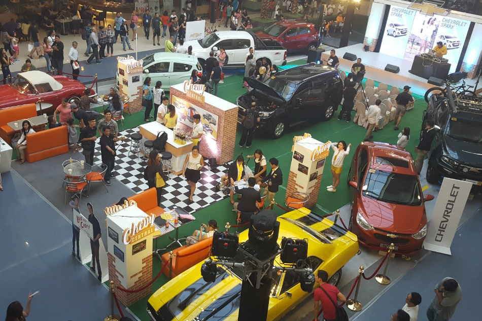 Exciting experiences await shoppers at SM with iconic Chevy cars