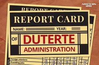 Duterte admin's Year 1 Report Card: Very Good