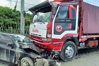 1 sugatan sa banggaan ng trak at sasakyan sa Ilocos Norte