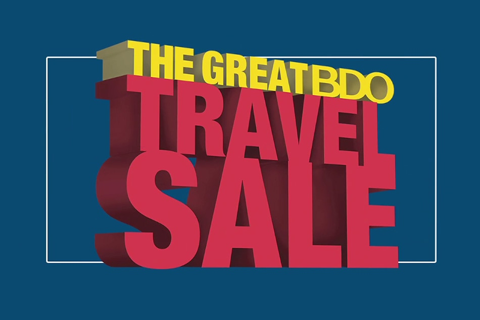 Get the best deals at The Great BDO Travel Sale 2017