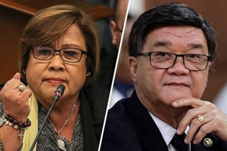 Aguirre says De Lima 'trying to be relevant' in filing case vs him
