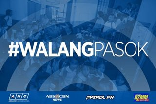 #WalangPasok: Public school classes suspended on January 2