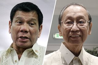 Duterte: I'm tired of listening to Joma Sison
