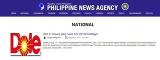 PNA worker admits getting DOLE logo via Google