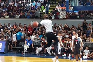 WATCH: LeBron closes Gilas exhibition at MoA with windmill dunk