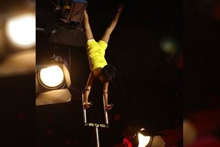 'Little Big Shots': This boy balances on 10-feet poles